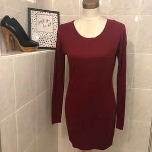 Old Navy Burgundy Long Sleeve Sweater Dress,  XS